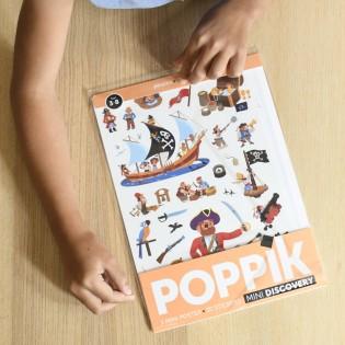 Mini poster & stickers Pirates - Poppik