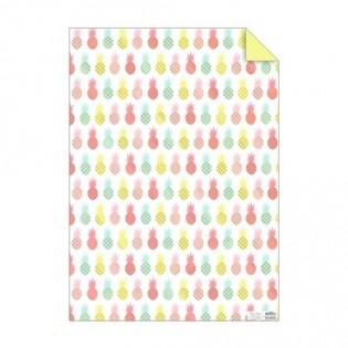 Feuille de papier ananas fluo - Meri Meri