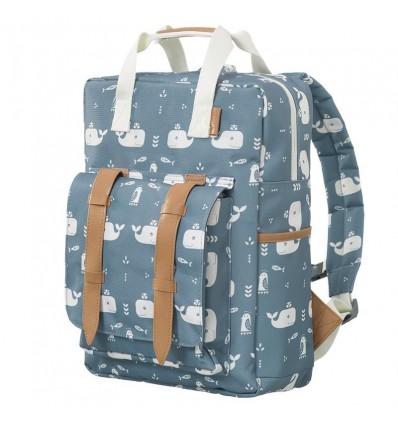 Grand sac à dos Baleine Bleue - Fresk