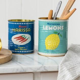 Set de 2 pots en métal Lemons et Harissa - Rex