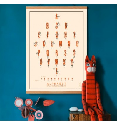 Alphabets dactylographique et braille