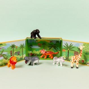 Boite de 6 figurines Animaux de la Jungle