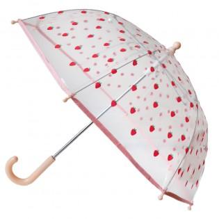 Parapluie transparent Fraise