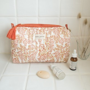 Trousse de toilette Lilas Corail - Bindi Atelier