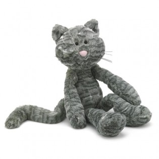 Peluche Chat Merryday gris