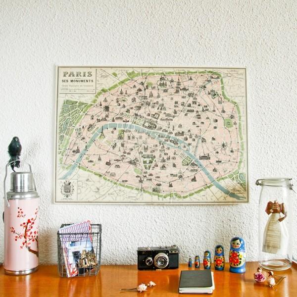 carte paris vintage beurshelp. Black Bedroom Furniture Sets. Home Design Ideas