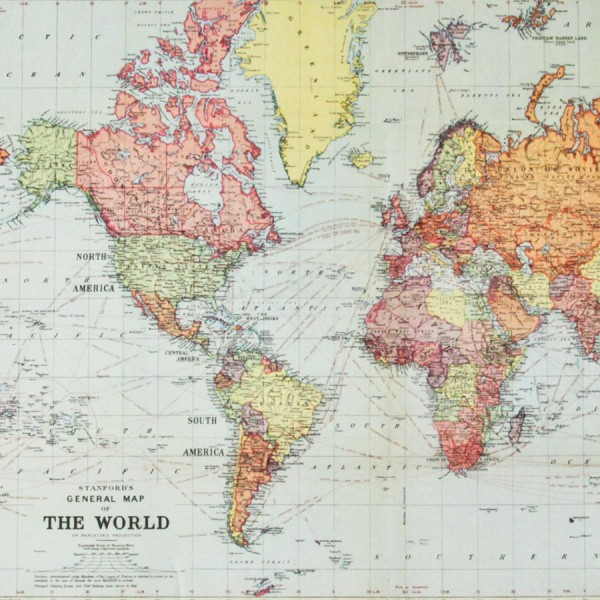 Carte du monde ancienne réedition   map monde vintage