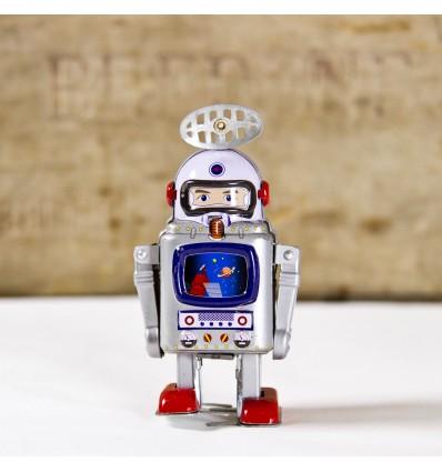 Robot astronaute galaxie