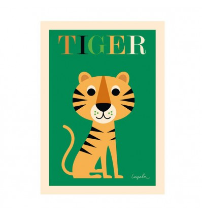 Affiche Tigre d'Ingela P Arrhenius