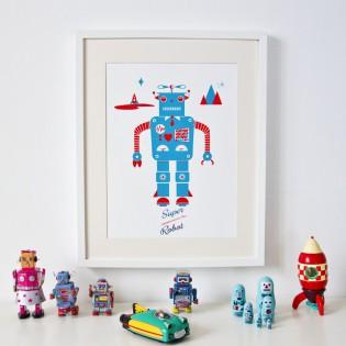 Affiche Robot - Sérigraphie