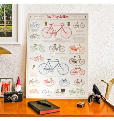 Affiche Vélo rétro - Cavallini & Co