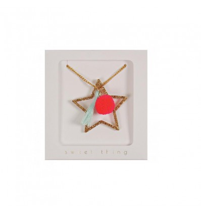 Collier étoile et pompon Meri Meri