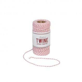Ficelle bicolore Baker's twine Rose