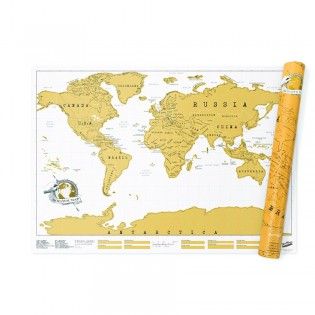 Carte du monde à gratter Luckies